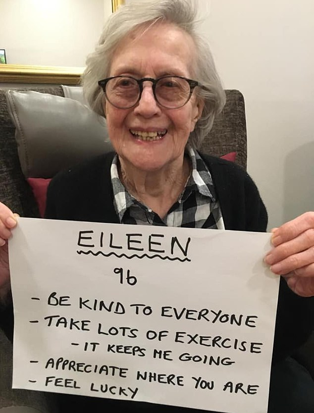 Eileen, 96, advised plenty of exercise - which is still allowed according to the latest Government guidelines. But exercise can only be taken outside once a day and only within your local area