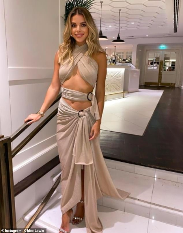Sizzling! Chloe recently marked her 30th birthday in style as she rocked a gold cut-out dress for a celebratory dinner with pals in the United Arab Emirates city