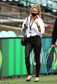WAG Candice Warner, 35, wears pricey 00 Dior slingbacks to the cricket
