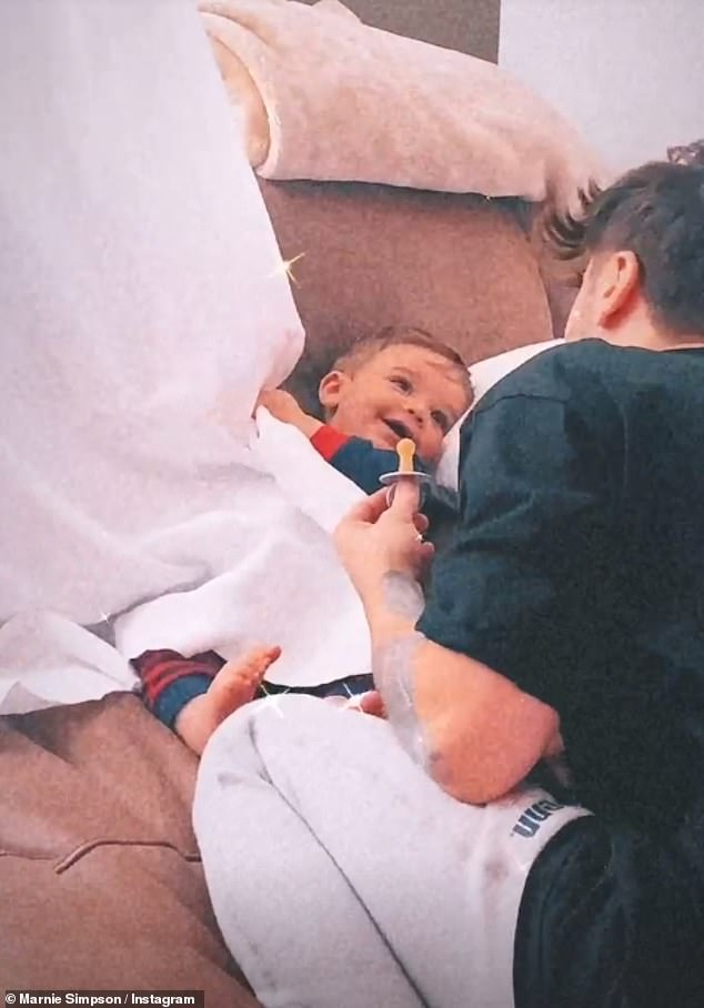 'New beginnings'?Marnie Simpson shared a heartwarming video of her fiancé Casey Johnson playing with their son Rox on Thursday, just days after hinting that they separated