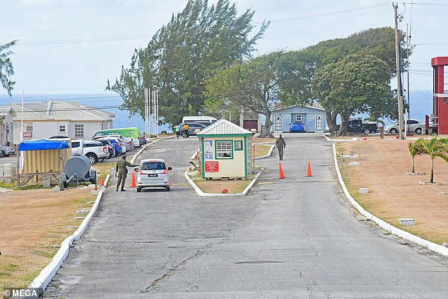 Mr Love was held in the mosquito-ridden Paragon Isolation Centre (above) where he was kept since his arrest on December 29. He was released yesterday after testing negative for the virus