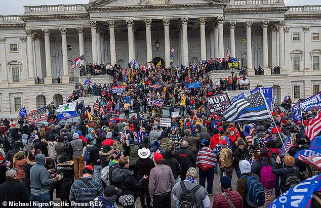 On January 6, 2021, Pro-Trump supporters and far-right forces flooded Washington DC to protest Trump's election loss. Hundreds breached the U.S. Capitol Building