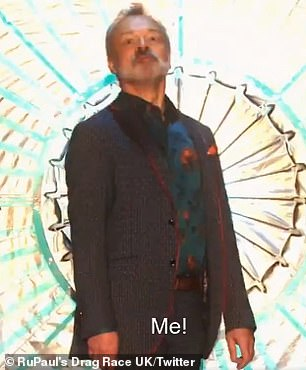 Oh... judges! Graham Norton (pictured) and Alan Carr also made stylish entrances on the runway in the teaser clip