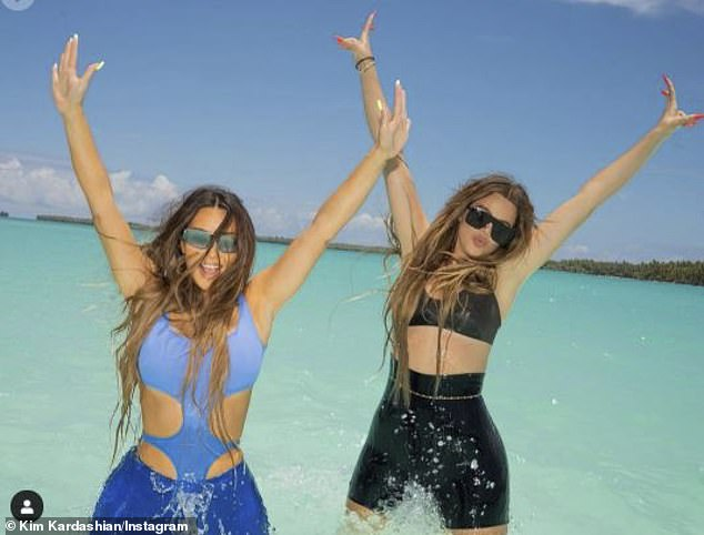 What pandemic?: The extravagant travel started with Kim's 40th birthday in Turks & Caicos and the family has yet to taper back their lifestyle