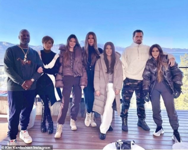 Tahoe trip: The Kardashian clan has done a lot of traveling over the past few months as they all shacked up in a lavish Lake Tahoe house ahead of Christmas; pictured December 23