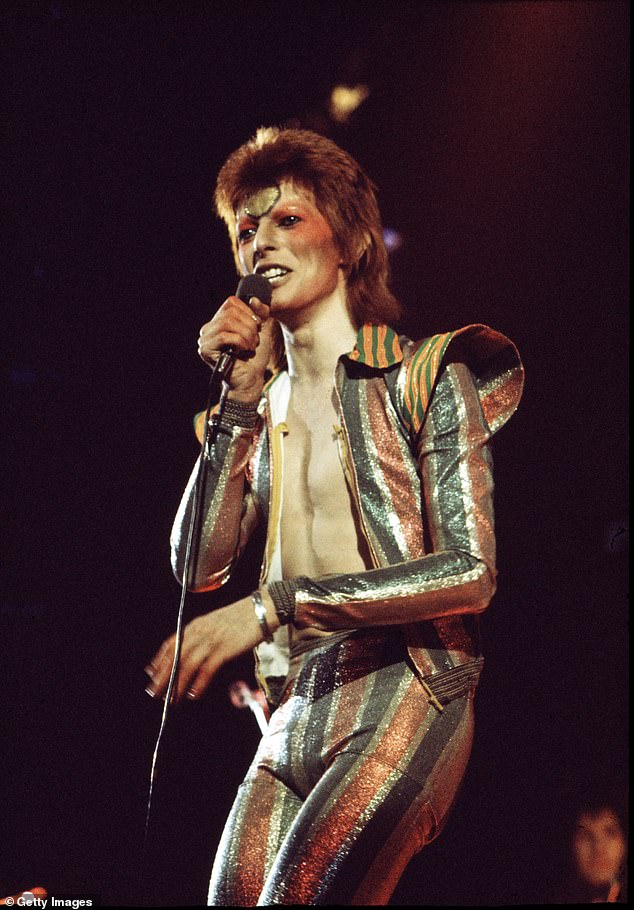 Rebel, Rebel: Working in partnership with Warner Music Group, Sony Music and The David Bowie estate, TikTok has also added his hits to its sounds page (Bowie pictured in 1973)