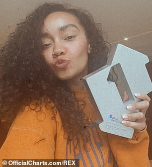 Milestone:Sweet Melody is the band's fifth number one single overall and the first since their 2016 track Shout Out To My Ex (Leigh-Anne Pinnock pictured)