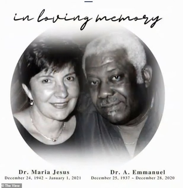 Lost: Dr.  a.  Emanuel was just 83 on Christmas day and died on 28 December, while Drs.  Maria Jesus, who died on 1 January, had turned 78 on Christmas Eve.