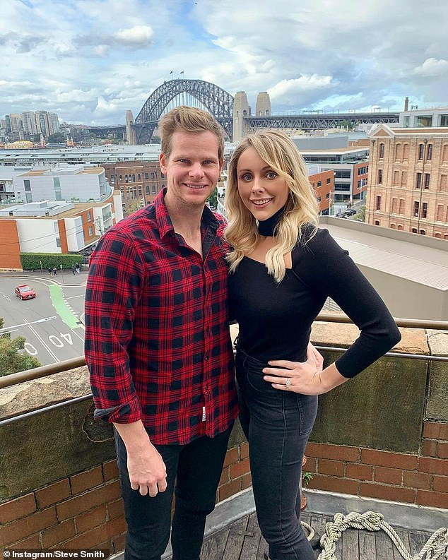Spending big: Batsman Steve Smith and his wife Dani splashed $6.6million on a stunning waterfront mansion in the affluent Sydney suburb of Vaucluse