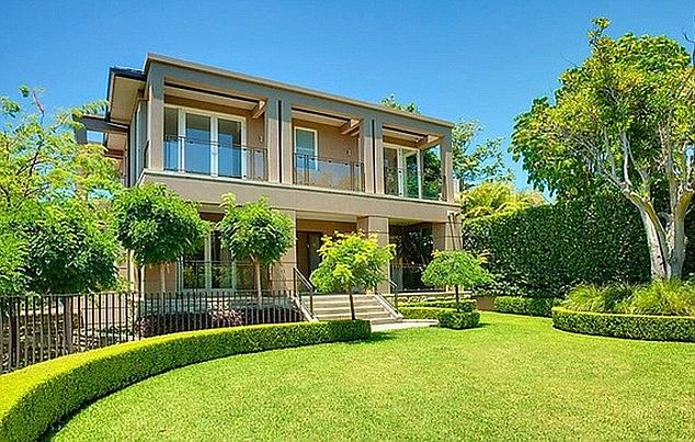 Former residence: Prior to relocating to his 'bachelor pad,' he had shared a $8million Vaucluse mansion (pictured) with his interior designer ex Kyly