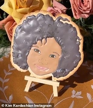 Too cute: Even the third generation Kardashian/Jenner kids were represented in the edible display