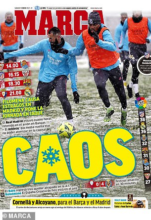 Marca also highlighted the chaos caused by the snow