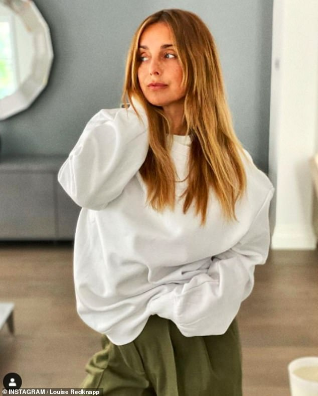 Tough time:Louise Redknapp has admitted that she's 'definitely struggling at the moment' in a candid Instagram post