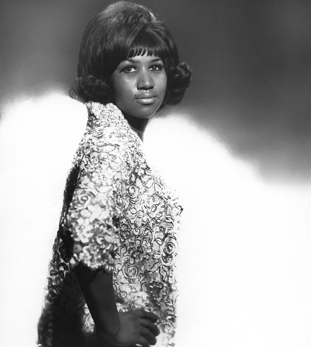 Pictured in 1965:Her cover of Otis Redding's Respect became an enduring symbol of the era's social movements and she became the first woman in the Rock And Roll Hall Of Fame