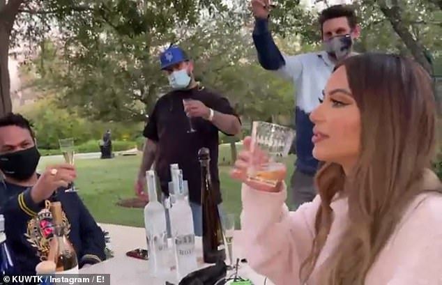 Final day: The 40-year-old appeared in a video on the show's Instagram, captioned: '20 Seasons. 14 years. Bible, we can't believe today is the last day of filming for #KUWTK. Final season coming soon to E!'