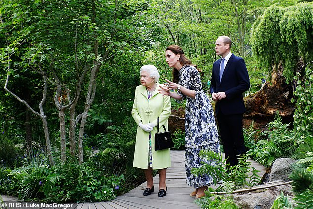 In one of the snaps, the royal can be seen with Her Majesty on a visit to the RHS Chelsea Flower Show 2019