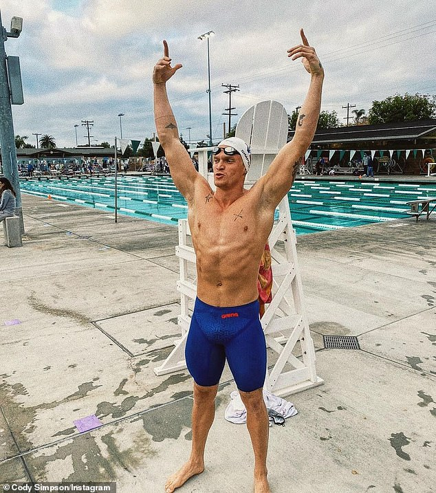 Future Olympic champion? Cody recently made the cut by swimming the 100m butterfly in 54.9 seconds, beating the qualifying benchmark of 56.87 seconds