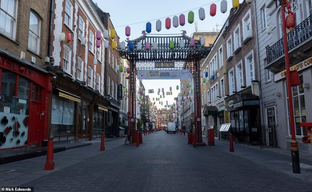 China Town was empty this morning after Mayor Sadiq Khan declared a major incident in London during the third Covid lockdown