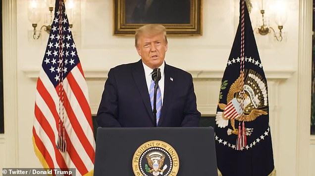 President Donald Trump released a short video Thursday where he blasted the 'heinous' attack and called for national 'healing' ¿ and called for an 'orderly' and 'seamless' transition to a new administration