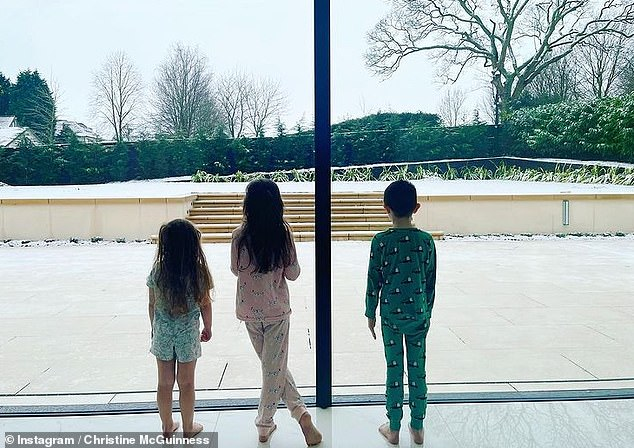 Siblings: Christine is mum totwins Penelope and Leo, seven, and four-year-old Felicity