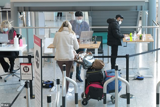 Fears have been raised that once the trip reopens holidaymakers could have to pay hundreds of pounds for costly tests both before departure and upon return, which could prevent many families from traveling (file image )