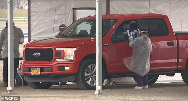 Fansneeded to test negative for COVID-19 within 72 hours of Saturday's 1pm kickoff. Fans were charged an addition $63 for the screening, and asked to visit a drive-through testing center in a parking lot near the Bills' Stadium in Orchard Park, NY on Wednesday and Thursday