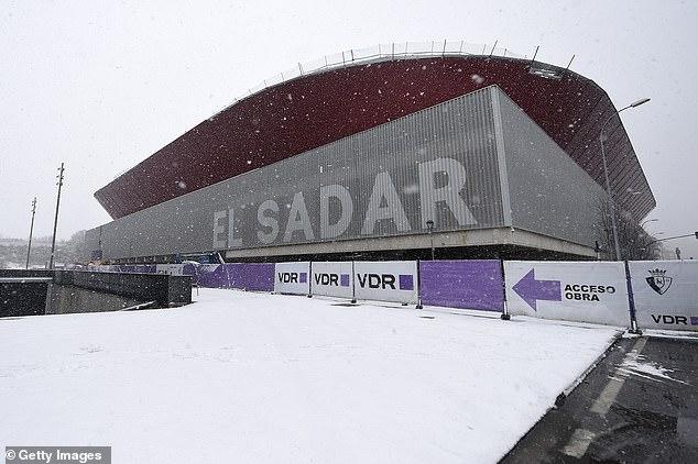 Spain's Pamplona region was hit by freezing weather last week