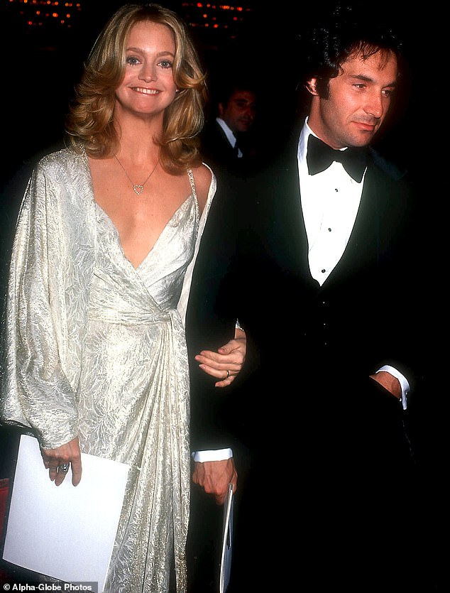 Arm in arm: Goldie and Bill are pictured together at their 1979 Oscar wedding - two years before her nomination for Best Actress for Private Benjamin