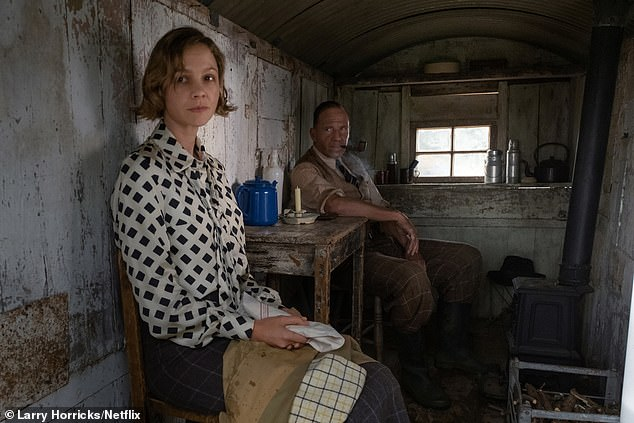 Lily James stars in the film version of author John Preston's book The Dig alongside Ralph Fienes
