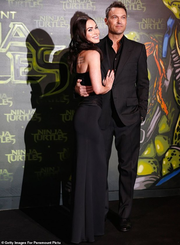 The Way They Were: Brian emotionally announced his split from his wife, Megan Fox, last May, and he filed for divorce a day before finally being thanked.