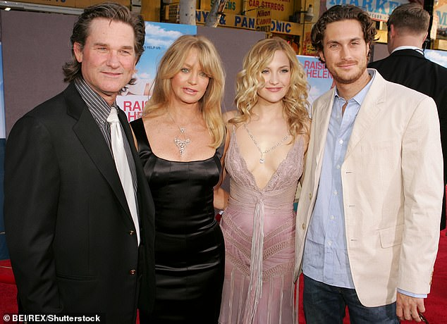 Step Family: Goldie has spent nearly four decades in a relationship with her Overboard co-star Kurt Russell who Kate calls
