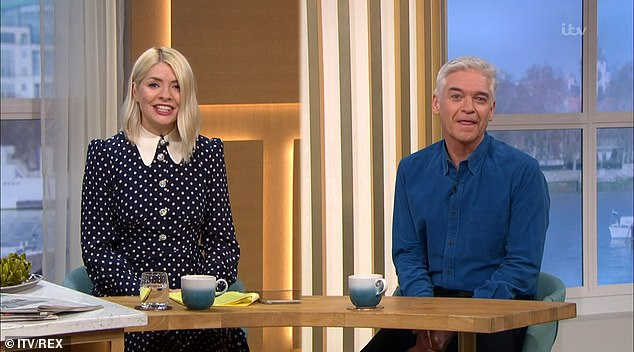 Back to work: Holly made her return to This Morning on Wednesday after taking two days off to spend extra time with her family