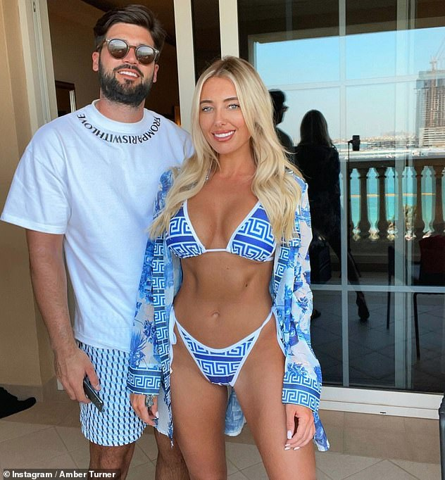 Globe-trotter: The TOWIE star, 27,enjoyed a business trip in the United Arab Emirates with her boyfriend Dan Edgar, 30, just before the nation plunged into lockdown