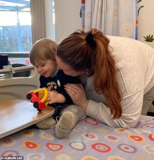 Mom Rachel Nicholson was an almost perfect match for her son's transplant.  Little Max has aplastic anemia, a condition that means the bone marrow and stem cells are not making enough blood cells