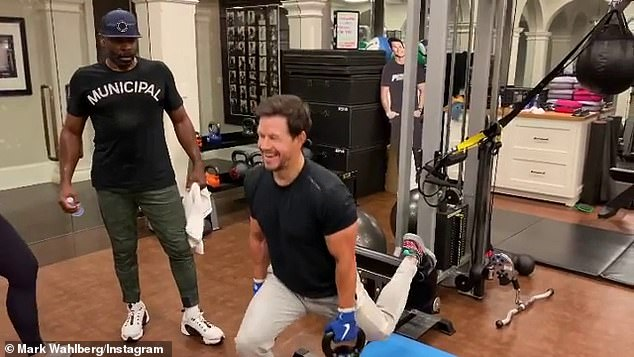 Work-related: Wahlberg regularly flaunts his chiseled physique on social media, which is essential for the many action films he has starred in in recent years