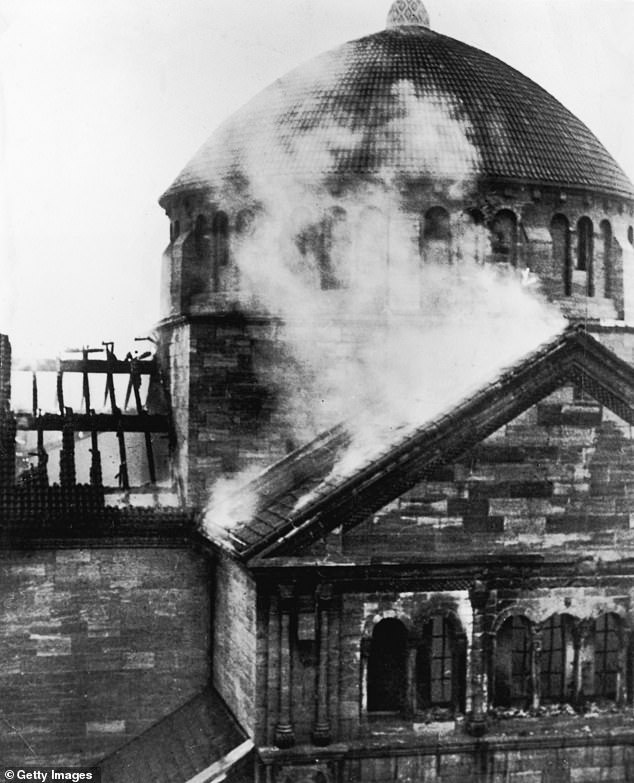 A night of shame: In the violence of Kristallnacht, mobs of SA paramilitaries and Hitler Youth burned almost 300 synagogues, and desecrated cemeteries
