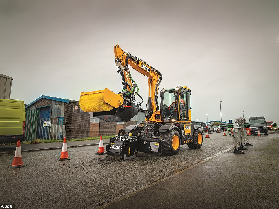 In initial trials in Stoke-on-Trent, the machine completed 51 road repair jobs in 20 days, which would have taken a team of up to six operatives 63 days to complete normally