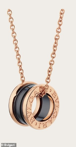 A rose-gold Bvlgari necklace valued at $4,100
