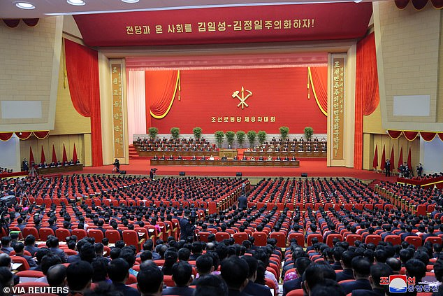 The party's ongoing congress, the first in kind in five years, announced Kim's new title during its sixth-day session on Sunday