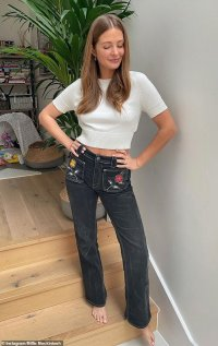 Millie Mackintosh celebrates not wearing elasticated jeans in new snap