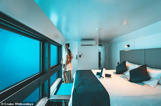 Australia's first and only underwater hotel, Reefsuites, moored 40 kilometres from Airlie Beach off the coast of Far North Queensland