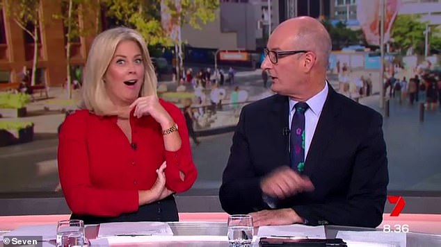 Wake up:Sunrise is hosted by Samantha Armytage (left) and David 'Kochie' Koch (right), with its entertainment segments often covered by Nelson Aspen and Edwina Bartholomew