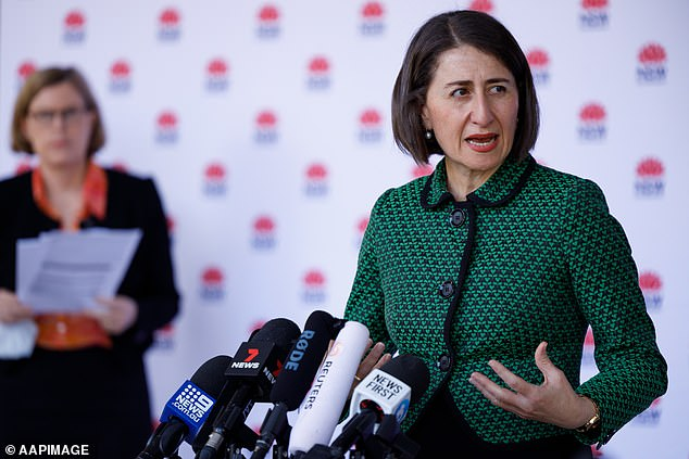 NSW Premier Gladys Berejiklian speaks to the media during a press conference in Sydney on January 9