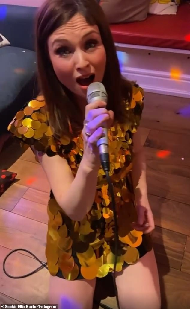 Sophie Ellis-Bextor screeches during latest Kitchen Disco as 22-month-old son Mickey falls over