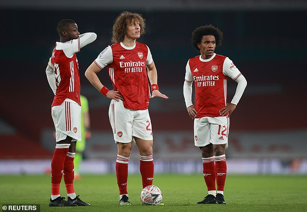 Smith Rowe has shone with the likes of Nicolas Pepe (left) and Willian (right) underwhelming