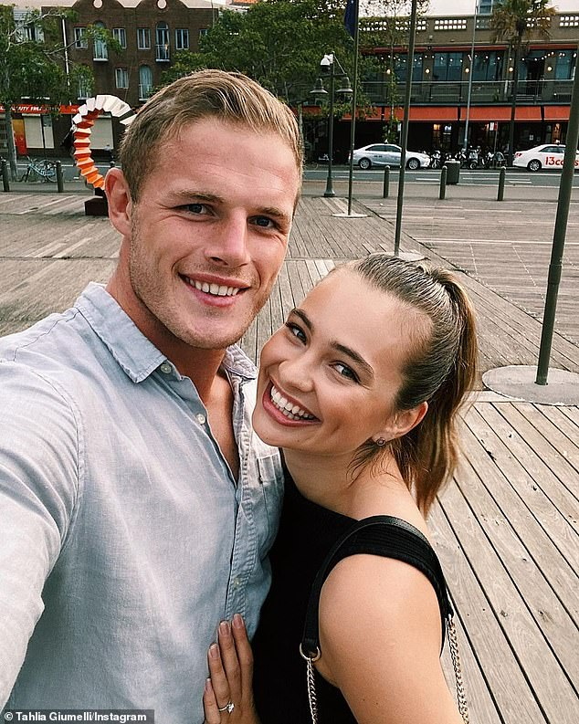 Ready to wed: Tahlia and Tom announced their engagement on New Year's Eve 2019, after three years of dating