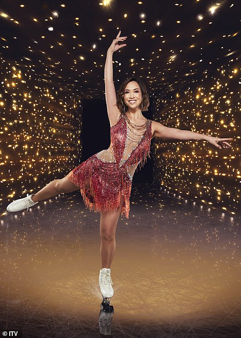 Keeping cool: Dancing On Ice stars are slipping into their sequins ahead of this weekend's debut with Myleene Klass concerned her 'piano fingers' will get SLICED OFF
