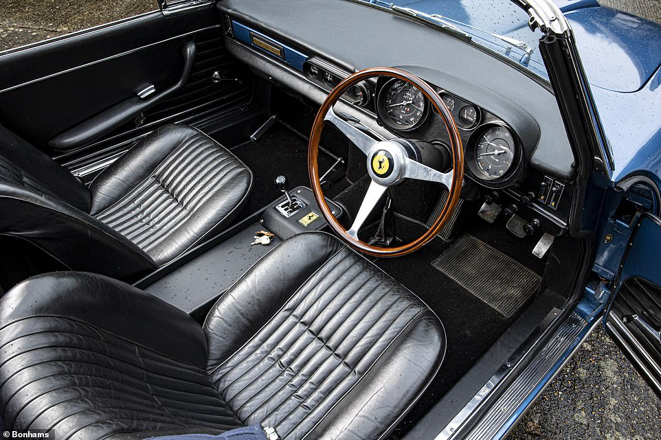 The interior of the car is retained in exceptionally good condition for its age. Bonhams predicts it could sell for close to £1million next month
