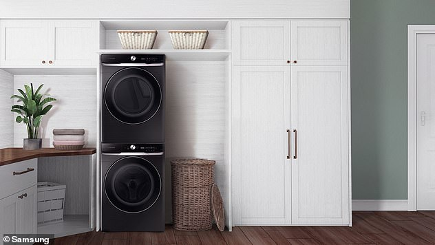 Samsung's new 8800 Series Smart Dial Front Load washers lets owners remotely stop or start a wash, schedule a cycle or receive notices that their clothes are dry