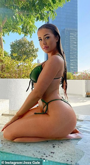 Dubai has become a popular lockdown holiday destination for the social media elite (Love Island's Jess Gale, pictured) with countless influencers and reality stars jetting off to the city for some Winter sun